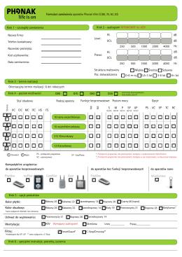 Krok 1 - szczegóły zamówienia Formularz zamówienia