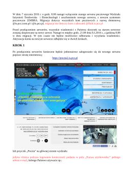 KROK 1 - Wydział Inżynierii Środowiska i Biotechnologii