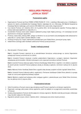 Regulamin promocji - STiebel
