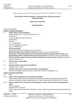Polska-Radom: Roboty budowlane w zakresie budowy obiektów