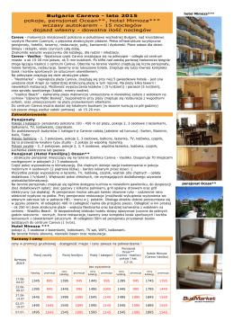 Bułgaria Carevo - pokoje, pensjonat Ocean, hotel Mimoza wczasy