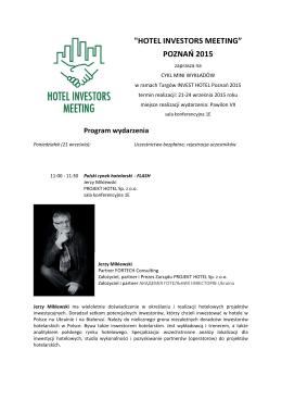 """HOTEL INVESTORS MEETING"" POZNAŃ 2015"