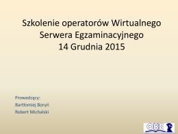 Material szkoleniowy OKE (operator wirtualnego serwera)