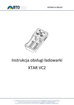 Instrukcja obsługi ładowarki XTAR VC2
