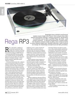 Pobierz test gramofonu Rega RP3 w miesięczniku