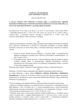4. Uchwała w sprawie określenia wzoru deklaracji o wysokości