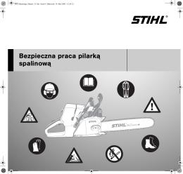 Bezpieczna praca pilark¹ spalinow¹