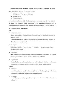 Protokół konkursowy - Gimnazjum nr 50 w Poznaniu