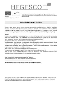 Kwestionariusz HEGESCO