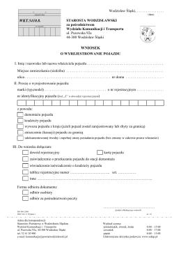 wyrejestrowanie pojazdu (proszę drukować
