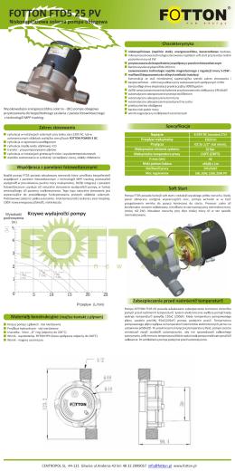 Karta katalogowa pompy obiegowej FOTTON FTD5 25PV