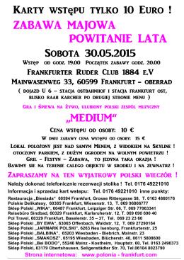 ZABAWA MAJOWA 30.05.2015 - POLONIA