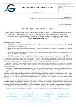 Pełna specyfikacja zapytania - Spółka Wodno