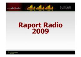 "Raport ""Radio 2009"""