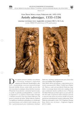 Anioły adorujące, Gian Maria Mosca zwany Padovano