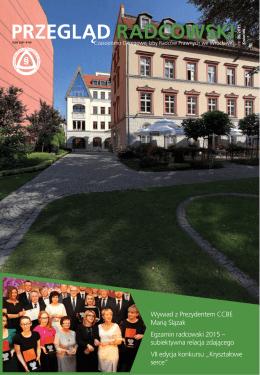 Wywiad z Prezydentem CCBE Marią Ślązak Egzamin radcowski 2015