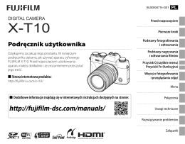 Podręcznik użytkownika - FUJIFILM Camera Remote