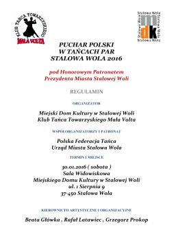 puchar polski w tańcach par stalowa wola 2016