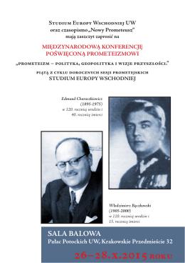 26–28.x.2015 roku - Studium Europy Wschodniej