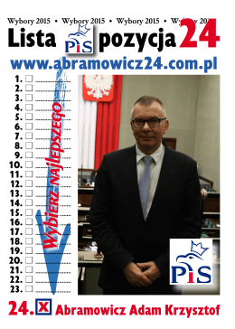 gazetka - Adam Abramowicz