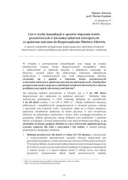 List do Ministra