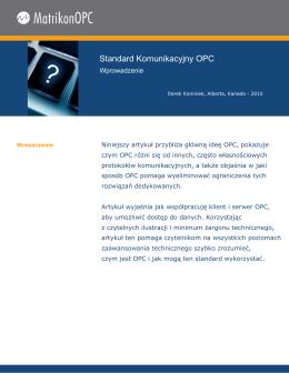 Standard Komunikacyjny OPC: Wprowadzenie