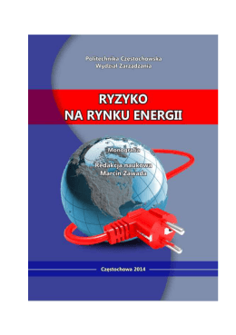RYZYKO NA RYNKU ENERGII - Politechnika Częstochowska