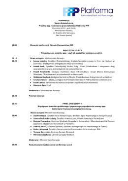 Konferencja Nasze doświadczenia Projekty ppp realizowane przez