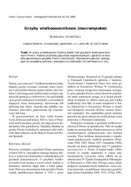 Gumińska B. - Grzyby wielkoowocnikowe (macromycetes)