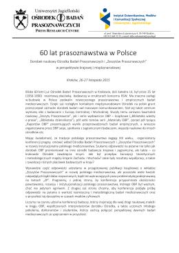 60 lat prasoznawstwa w Polsce