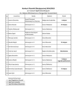 Konkurs Piosenki Obcojęzycznej_2015