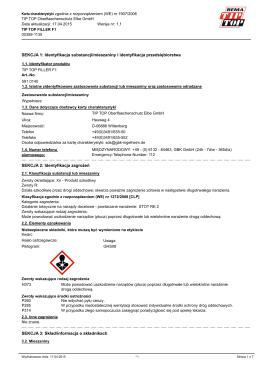 SEKCJA 1: Identyfikacja substancji/mieszaniny i