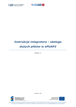 Instrukcja integratora - obsługa dużych plików w ePUAP2