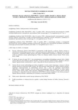 Decyzja wykonawcza Komisji 2014/709/UE z dnia 9 października