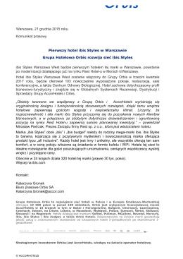 ibis Styles w Warszawie - komunikat prasowy 21_12_15_F