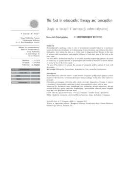Stopa w terapii i koncepcji osteopatycznej - kliknij by - Fizjo-reh