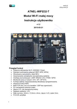 ATNEL-WIFI232-T Moduł Wi-Fi małej mocy Instrukcja użytkownika