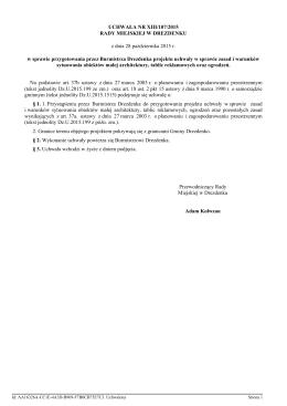 UCHWAŁA NR XIII/107/2015 RADY MIEJSKIEJ W