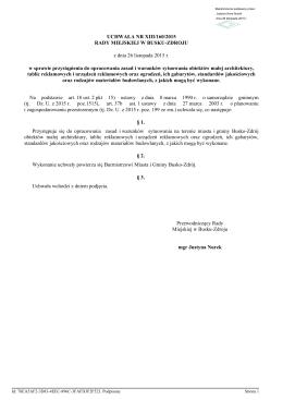 Uchwala Nr XIII/160/2015 z dnia 26 listopada 2015 r.