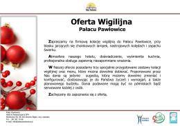 pełna oferta - Pałac Pawłowice