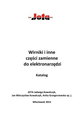 Wirniki i inne części zamienne do elektronarzędzi
