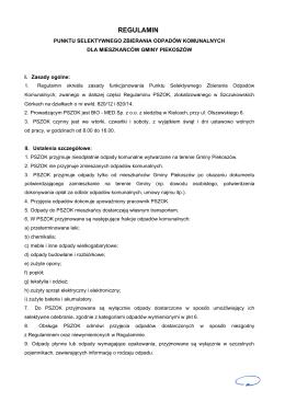 regulamin - Piekoszów, Urząd Gminy