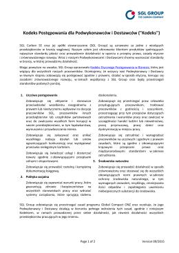 Kodeks Postępowania dla Podwykonawców i