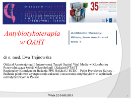 Antybiotykoterapia w OIT.