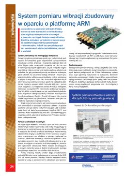 System pomiaru wibracji zbudowany w oparciu o platformę ARM