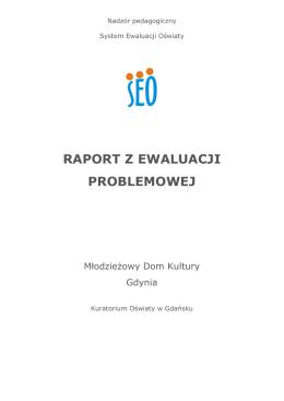 Raport z ewaluacji zewnętrznej 25.05.2015 r.
