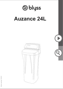 Manual Blyss Auzance 24L - Dziękujemy za zakup zmiękczacza do