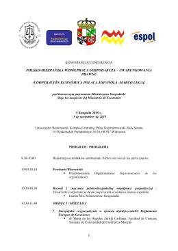 Program - Wydział Prawa i Administracji UW