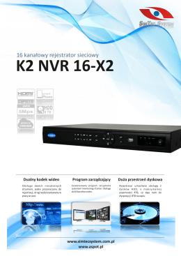 K2 NVR 16-X2 - Sklepzkamerami.pl