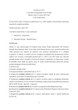 Protokół nr 6/2015